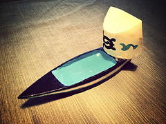 Riley's raingutter regatta boat
